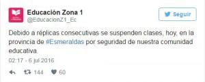 Twitter @EducacionZ1_Ec